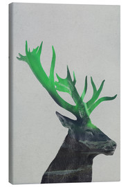 Canvas print  Deer In The Aurora Borealis - Andreas Lie