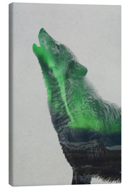 Canvas print  Howling in the Aurora Borealis - Andreas Lie