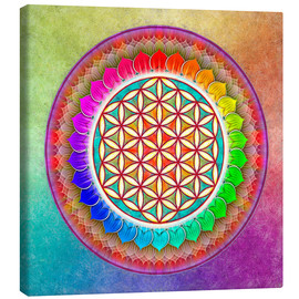 Canvas print  Flower of Life, Rainbow Lotus Artwork I - Dirk Czarnota