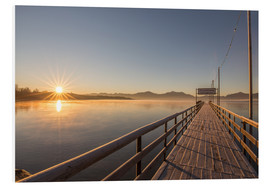 Foam board print  Sunrise on Chiemsee - Sebastian Jakob