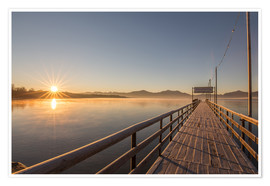 Premium poster Sunrise on Chiemsee