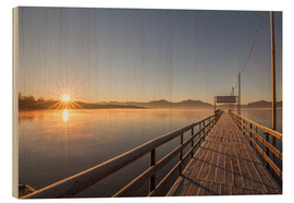 Wood print  Sunrise on Chiemsee - Sebastian Jakob