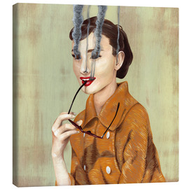 Canvas print  Audrey Hepburn - Famous When Dead