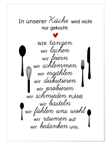 Poster In our kitchen