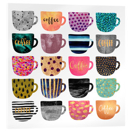 Acrylic glass  Pretty Coffee Cups - Elisabeth Fredriksson