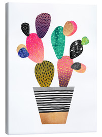 Canvas  Happy cactus - Elisabeth Fredriksson