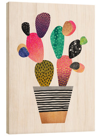 Wood  Happy cactus - Elisabeth Fredriksson