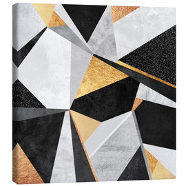 Canvas print  Geometry Gold - Elisabeth Fredriksson