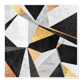 Poster  Geometry Gold - Elisabeth Fredriksson