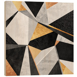 Wood print  Geometry Gold - Elisabeth Fredriksson