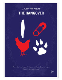 Premium poster No145 My THE HANGOVER PART 1 minimal movie poster