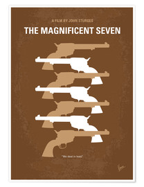 Premium poster No197 My The Magnificent Seven minimal movie poster