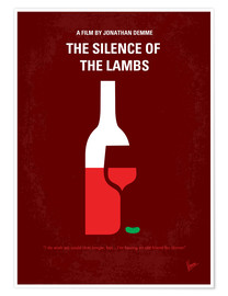 Poster No078 My Silence of the lamb minimal movie poster