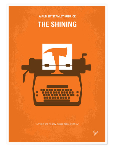 Poster No094 My The Shining minimal movie poster