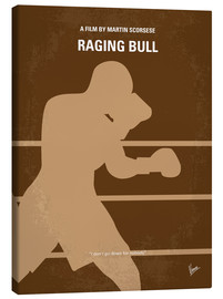 Canvas  No174 My Raging Bull minimal movie poster - chungkong