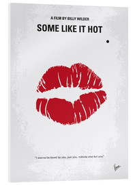 Acrylic glass  No116 My SOME LIKE IT HOT minimal movie poster - chungkong