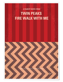 Premium poster No169 My Fire walk with me minimal movie poster