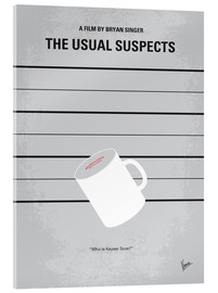 Acrylic glass  No095 My The usual suspects minimal movie poster - chungkong