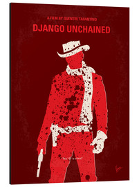 Alu-Dibond  No184 My Django Unchained minimal movie poster - chungkong