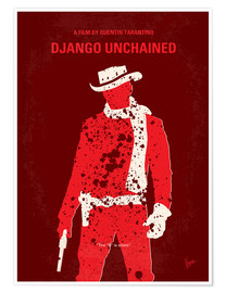 Poster  No184 My Django Unchained minimal movie poster - chungkong