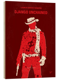 Wood  No184 My Django Unchained minimal movie poster - chungkong