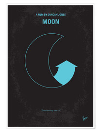 Premium poster No053 My Moon 2009 minimal movie poster