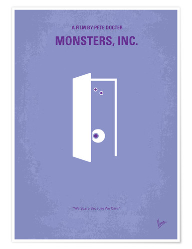 Premium poster No161 My Monster Inc minimal movie poster