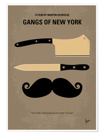 Poster No195 My Gangs of New York minimal movie poster