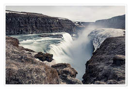 Premium poster  Gulfoss - Images Beyond Words