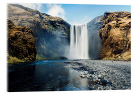 Acrylic print  Skogafoss Waterfall - Images Beyond Words