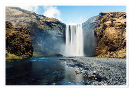 Premium poster  Skogafoss Waterfall - Images Beyond Words