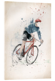 Acrylic print  I want to ride my bicycle - Balazs Solti