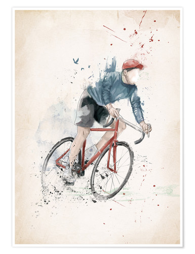 Premium poster I want to ride my bicycle