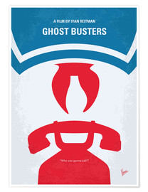 Premium poster No104 My Ghostbusters minimal movie poster