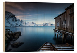 Wood print  the last house from Norway - Andy Donath