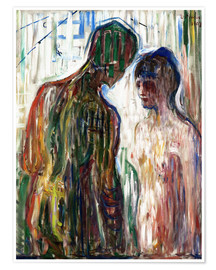 Premium poster  Cupid and psyche - Edvard Munch
