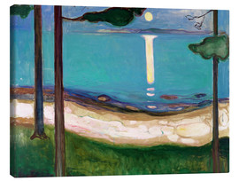 Canvas  Moonlight - Edvard Munch