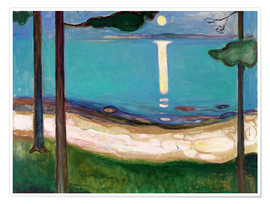 Premium poster  Moonlight - Edvard Munch