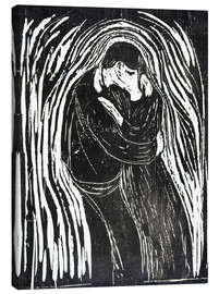 Canvas  The Kiss II - Edvard Munch