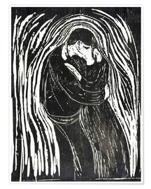 Premium poster  The Kiss II - Edvard Munch