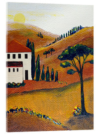 Acrylic print  Colours of Tuscany - Christine Huwer