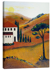 Canvas print  Colours of Tuscany - Christine Huwer