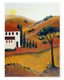 Premium poster Colours of Tuscany