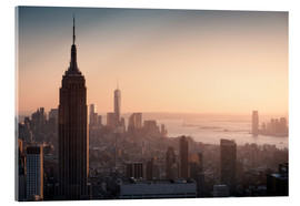 Acrylic print  Sunset over NYC - Images Beyond Words