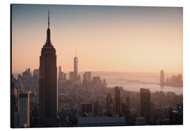 Alu-Dibond  Sunset over NYC - Images Beyond Words