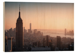 Wood  Sunset over NYC - Images Beyond Words