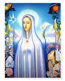 Premium poster Virgin of the Rose and Lily