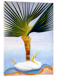 Acrylic print  palm tree and bird - Joseph Stella