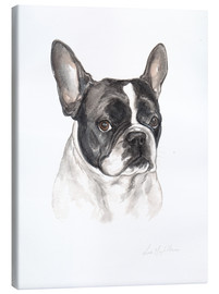 Canvas  French bulldog, black-white - Lisa May Painting