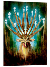 Acrylic print  The Deer God of Life and Death - Barrett Biggers